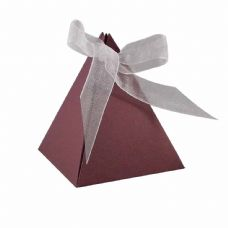 Maroon Pyramid Designer Favour Boxes
